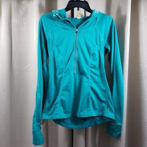 LUCY Green Teal Active Wear Pullover Hoodie